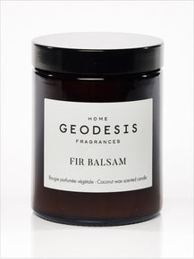 Fir Balsam Glass Jar Candle by Geodesis (with natural Coconut Wax)