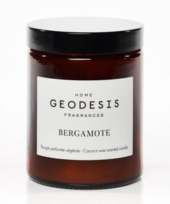 Bergamot Glass Jar Candle by Geodesis (with natural Coconut Wax)