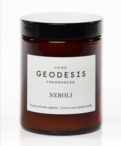 Neroli Glass Jar Candle by Geodesis (made with natural Coconut Wax)