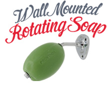 Wall mounted rotating soaps