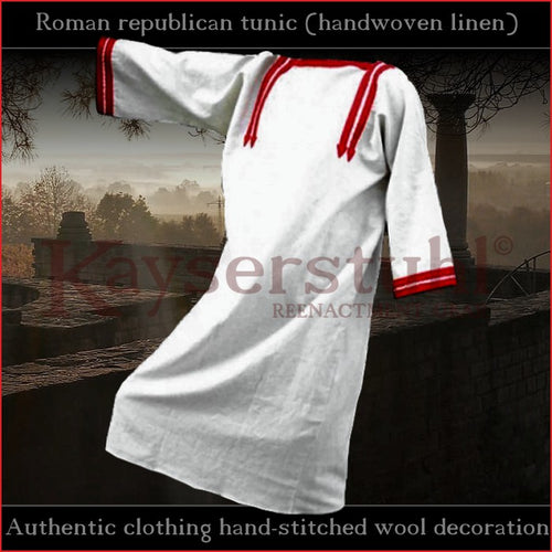 Authentic clothing - Roman republican tunic (handwoven, handstitched)