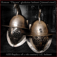 Load image into Gallery viewer, Authentic replica - Thraex helmet (tinned steel)