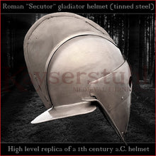 Load image into Gallery viewer, Authentic replica - Secutor helmet (tinned steel)