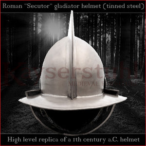 Authentic replica - Secutor helmet (tinned steel)