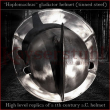 Load image into Gallery viewer, Authentic replica - Hoplomachus helmet (tinned steel)