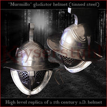 Load image into Gallery viewer, Authentic replica - Murmillo helmet (tinned steel)
