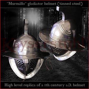 Authentic replica - Murmillo helmet (tinned steel)