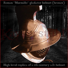 Load image into Gallery viewer, High level replica - Murmillo helmet (bronze)