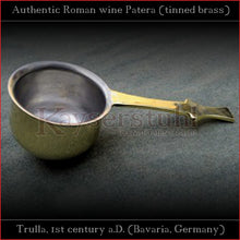 Load image into Gallery viewer, Authentic replica - Roman Wine-Patera (food-safe tinned brass)
