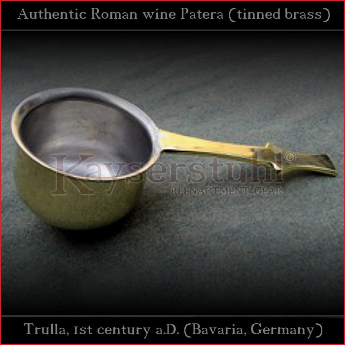 Authentic replica - Roman Wine-Patera (food-safe tinned brass)