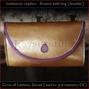 "Authentic Replica - Roman belt bag ""Bar Kokhba"" (leather)"