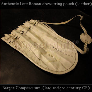 "Authentic replica - Roman drawstring pouch ""Barger-Compascuum"" (leather)"