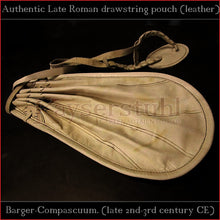 "Load image into Gallery viewer, Authentic replica - Roman drawstring pouch ""Barger-Compascuum"" (leather)"
