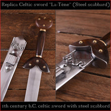 "Load image into Gallery viewer, Authentic replica Celtic ""La-Tène"" sword (spring steel)"