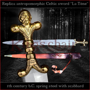 "Authentic replica Celtic ""La-Tène"" antropomorphic sword"