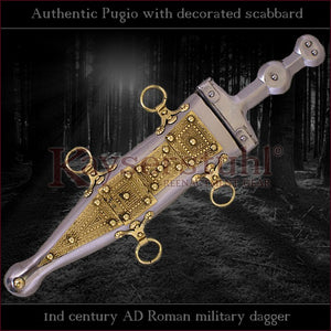 "Authentic replica - Pugio ""decorated"" (Roman dagger with type 'A' sheath)"