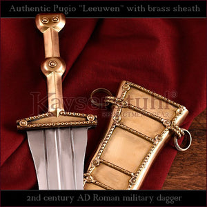"Authentic replica - Pugio ""Leeuwen"" (Roman dagger with brass sheath)"