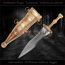 "Load image into Gallery viewer, Authentic replica - Pugio ""Leeuwen"" (Roman dagger with brass sheath)"