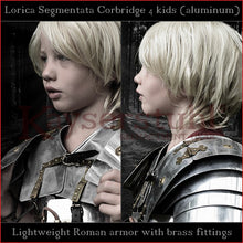 "Load image into Gallery viewer, Lightweight Lorica Segmentata ""Corbridge A"" for kids (segmentated cuirass)"