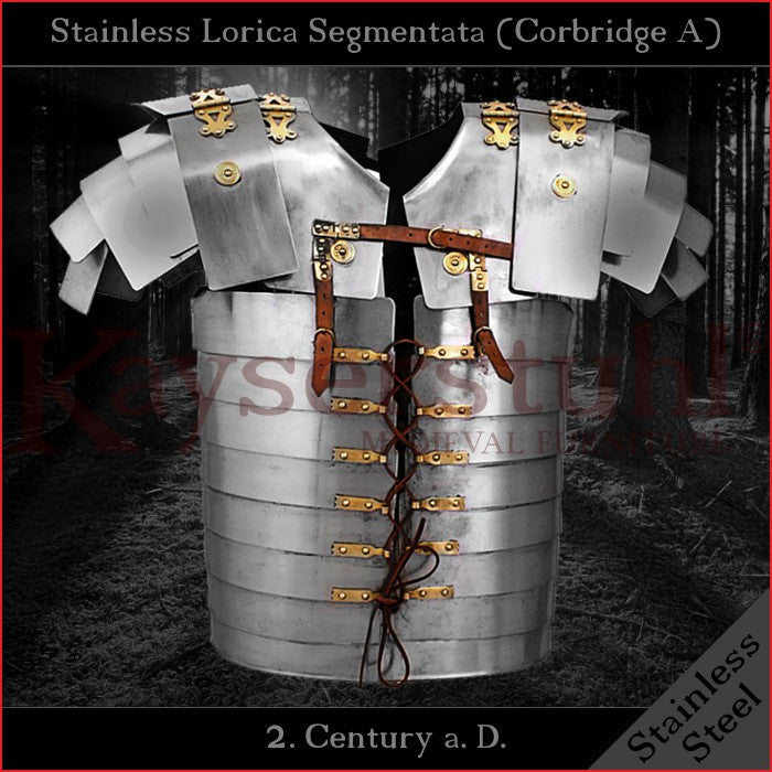 Lorica Segmentata (Type Corbridge A) - Stainless