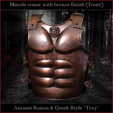 Load image into Gallery viewer, Troy style muscle armor with bronze finish