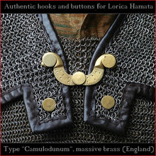 "Load image into Gallery viewer, Authentic Replica - Hooks & Buttons ""Camulodunum"" for Lorica Hamata"