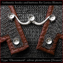 "Load image into Gallery viewer, Authentic Replica - Hooks & Buttons ""Chassenard"" for Lorica Hamata"