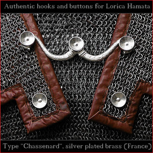 "Authentic Replica - Hooks & Buttons ""Chassenard"" for Lorica Hamata"