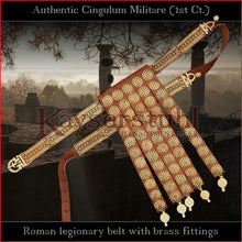 "Load image into Gallery viewer, Realistic Replica - Cingulum Militare ""1st century"" with apron (leather, brass)"