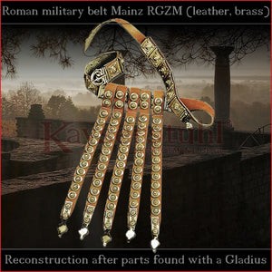 "Authentic Replica - Cingulum Militare ""Mainz"" with apron (antiqued brass)"