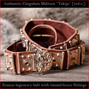 "Authentic Replica - Roman Cingulum Militare ""Tekija"" (leather, tinned brass)"