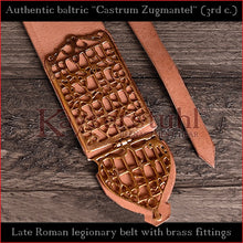 "Load image into Gallery viewer, Authentic Replica - Roman Baldric ""Castrum Zugmantel"" (leather, brass)"