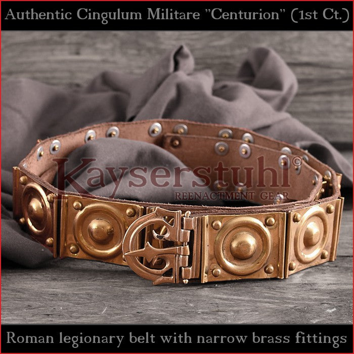 Authentic Replica - Roman Centurion belt (Leather & Brass)