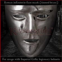 Load image into Gallery viewer, Authentic replica - Roman facemask (tinned brass)