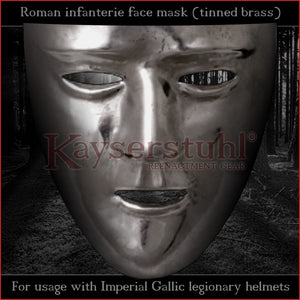 Authentic replica - Roman facemask (tinned brass)