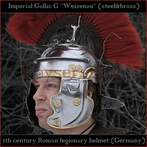 "Authentic replica - Imperial Gallic G ""Weisenau"" helmet (steel & brass)"