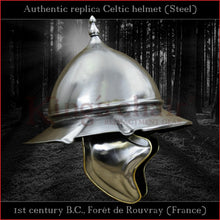 "Load image into Gallery viewer, Authentic replica Celtic ""Rouvray"" helmet (steel)"