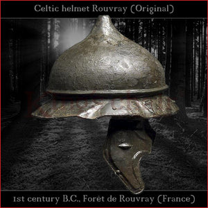 "Authentic replica Celtic ""Rouvray"" helmet (steel)"