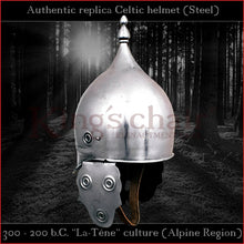 "Load image into Gallery viewer, Authentic replica - Celtic ""La-Téne"" culture helmet (steel)"
