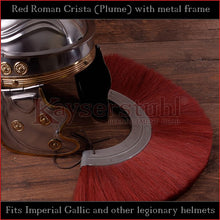 Load image into Gallery viewer, Authentic Replica - Red Roman Crista (Plume) with metal frame
