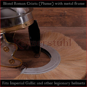 Authentic Replica - Blond Roman Crista (Plume) with metal frame