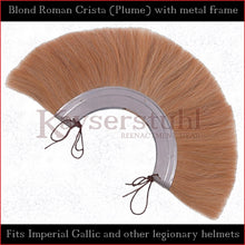 Load image into Gallery viewer, Authentic Replica - Blond Roman Crista (Plume) with metal frame