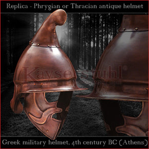 "Authentic Replica - Greek ""Phrygian"" helmet (steel)"
