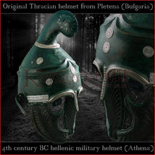 "Load image into Gallery viewer, Authentic Replica - Greek ""Phrygian"" helmet (steel)"
