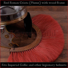 Load image into Gallery viewer, Authentic Replica - Red Roman Crista (Plume) with wood frame