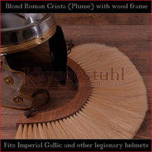 Load image into Gallery viewer, Authentic Replica - Blond Roman Crista (Plume) with wood frame