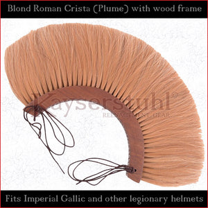 Authentic Replica - Blond Roman Crista (Plume) with wood frame