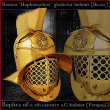 Load image into Gallery viewer, Authentic replica - Deepeeka Hoplomachus helmet (brass)