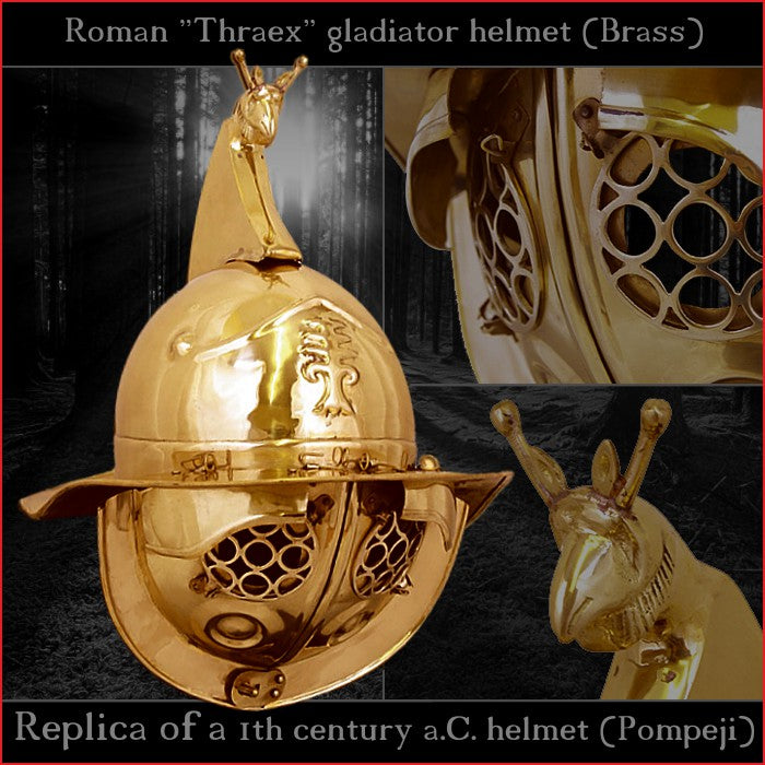 Authentic replica - Deepeeka Thraex helmet (brass)