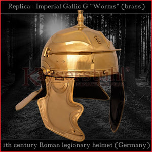 "Authentic replica - Imperial Gallic G ""Worms"" helmet (brass)"
